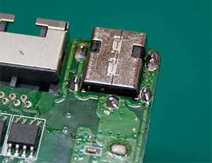 Repaired Laptop Power Jack
